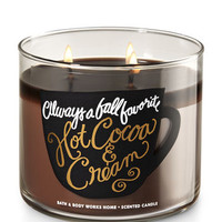 Hot Cocoa & Cream 3-Wick Candle | Bath And Body Works