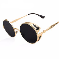 Side Cover Carving Steampunk Sunglasses