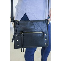 On the Rocks Crossbody Bag - Black