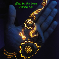 Glow in the Dark Henna Kit -  Mehndi, body art, cool, teens, bridal, gift for her, girlfriend, geek, rave, birthday, easter