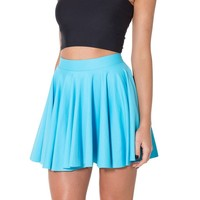SheOutfit Women's Hot Colorful Matte Cheerleader Skirt Large Light Blue