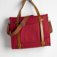 Best Seller Camp Director Tote in Cherry by ModCloth