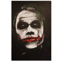 Joker The Legend Heath Ledger Painting Art Posters Canvas Print Wall Art for Room Decor