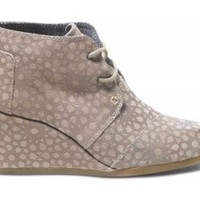 Taupe Moroccan Suede Women's Desert Wedges