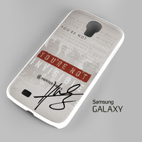 Hunter Hayes Quote A0288 Samsung Galaxy S3 S4 S5 Note 3 Cases