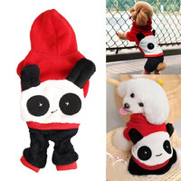 Pet Dog Puppy Clothes Cute Panda Hoodie with Cap Jumpsuit = 1932019012