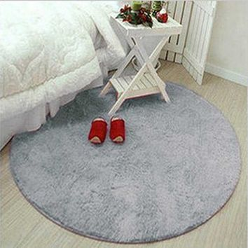 Anti-slip Multi Colors Big Round Floor Carpets  Pad For Living Room Badroom Circle Mat Yoga Rug Home Textile