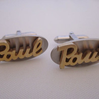 Name Cufflinks Vintage Cuff Links Signed Swank Personalized Cufflinks Wedding Jewelry Men's Jewelry Gifts for Men