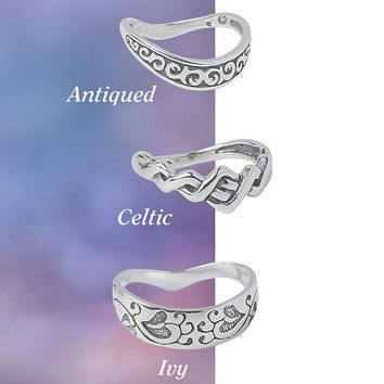Sterling Silver Celtic Thumb Ring - New Age, Spiritual Gifts, Yoga, Wicca, Gothic, Reiki, Celtic, Crystal, Tarot at Pyramid Collection