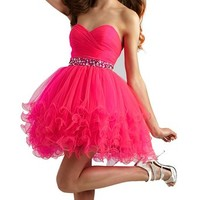 Fashion Plaza Mini Princess Strapless Homecoming Cocktail Party Dress D0235