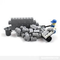 Stone Wall Bricks - Lego Compatible