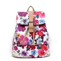 Printed Flora Backpack B