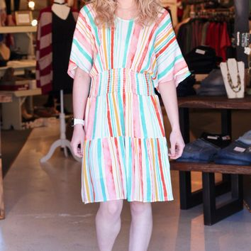 Neapolitan Vertical Striped Dress {Multi}