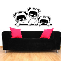 Ferrets Vinyl Wall Decal Sticker Graphic