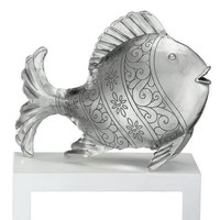 Coastal Tropical Double Sided Standing Metal Fish Decor Art:Amazon:Home & Kitchen