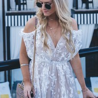 Still Time White Romper