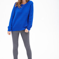 FOREVER 21 Chunky Ribbed Knit Sweater Royal
