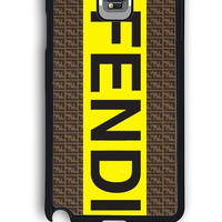 Samsung Galaxy Note 4 Case - Rubber (TPU) Cover with fendi logo Design