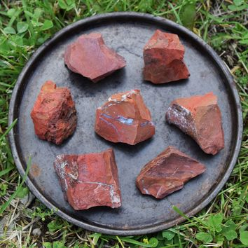 RED JASPER Raw Crystal - Natural Rough Red Jasper - Grounding Root Chakra Stone