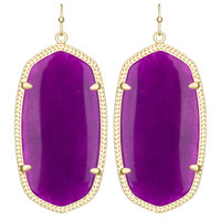 Kendra Scott Danielle Drop Earrings Purple Jade