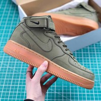 Nike Air Force 1 High Upstep Army Green Sport Shoes - Best Online Sale