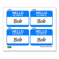 Bob Hello My Name Is - Sheet of 4 Stickers