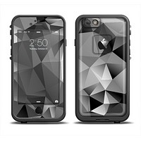 The Vector Black & White Abstract Connect Pattern Apple iPhone 6 LifeProof Fre Case Skin Set