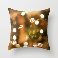 Christmas Lights  Throw Pillow by Lauren Lee Designs