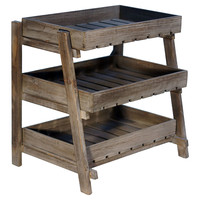 Wooden Display Crate Stand, Storage Boxes & Bins