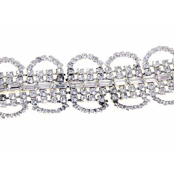 Vintage Rhinestone Bracelet For Costume/Parts 1950S
