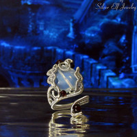 Mirror of Galadriel ring, LOTR rings, Elf jewelry, Elf ring, opalite ring, wire ring, adjustable ring,Tolkien inspired, Cosplay jewelry