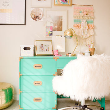 A Charming Desk Space with O My Darlings Blog - PBteen Blog