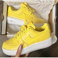 Nike Air Force 1 Low Fashion Women Casual Sport Running Sneaker Shoes Yellow