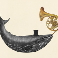 Whale Song Art Print by Terry Fan