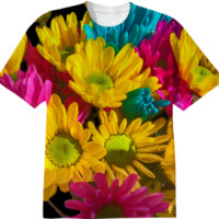 Spring daisies 2 T-Shirt created by Blooming Vine Design | Print All Over Me