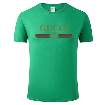 Gucci multicolor letter round neck casual short sleeve top-1