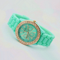 Mint Color Silicone Watch XCVQ002