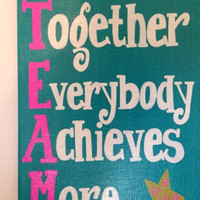 Together Everybody Achieves More. Canvas 9 x 12inch canvas. TEAM. School. Classroom
