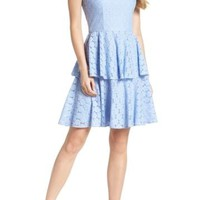 Gal Meets Glam   Daisy Lace Tiered Fit & Flare Dress (Nordstrom Exclusive)   Nordstrom Rack
