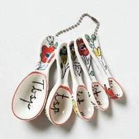 Flowerpatch Measuring Spoons by Molly Hatch Multi One Size Kitchen