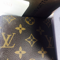 Louis Vuitton Leather Wallet, Free Shipping