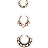 Rhinestone Septum Ring Set | Forever 21 - 1000177062