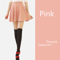 Women Bust Shorts Skirt Pants Pleated Plus Size Candy Color Skirts 11 Colors high quality high Elasticity pleated saia