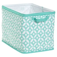 Store-It Canvas Bin Collection, Medium Bin, Set of 2, Petal Dot Pool