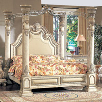 Wildon Home Calidonian Four Poster Bedroom Collection - Size: King, Finish: Cherry