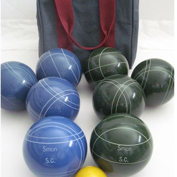 Engraved Custom Bocce Ball Set