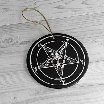 Sigil of Baphomet Ceramic Ornaments