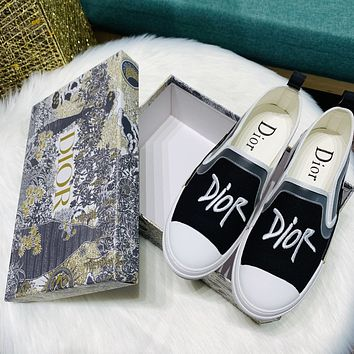 DIOR Embroidered Lefu shoes