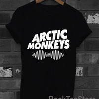 The Arctic Monkeys Indy Band Black and White T Shirt Tee Unisex Size Men Women - RM2