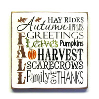Fall Harvest Wooden Sign, Autumn Decor,  Typography Sign,  Fall Decor , Harvest Sign, Pumpkins, Wood Sign Saying, Harvest Decor